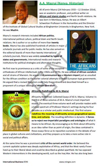 Ali Al'amin Mazrui Historiador queniano