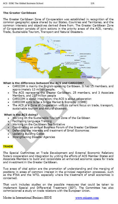 Association of the Caribbean States (ACS)