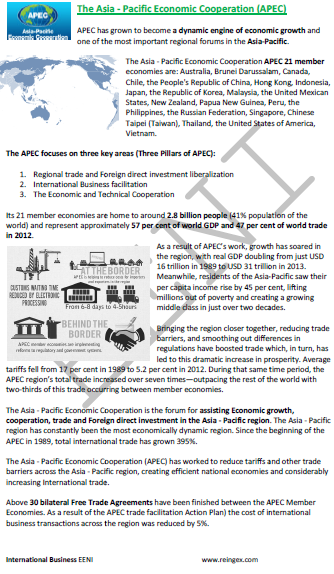 Asia-Pacific Economic Cooperation APEC. Trade and Investment Liberalisation. Bogor Goals