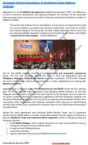 ASEAN-European Union Free Trade Agreement