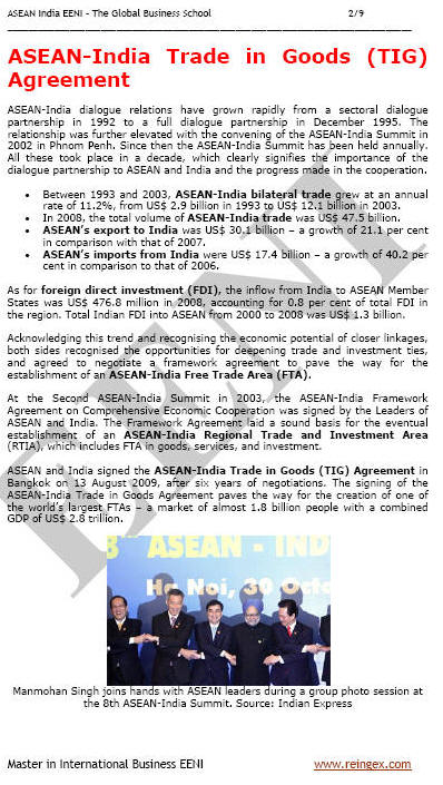 ASEAN-India Free Trade Agreement (Course)