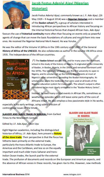 Jacob Festus Adeniyi Ajayi Historien nigérian