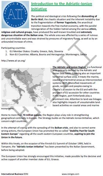 Iniciativa Adriático-Jónica (Mestrado Europa)