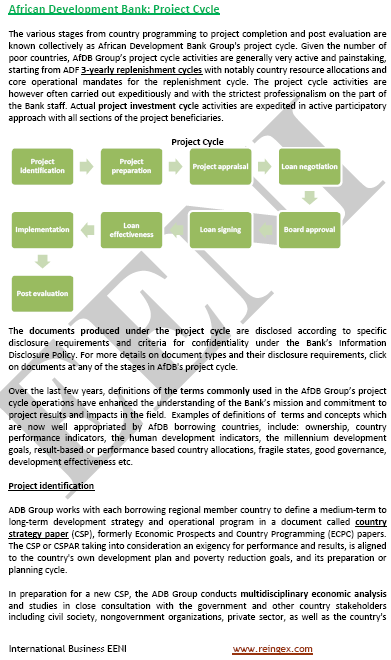 Project Cycle (the African Development Bank)