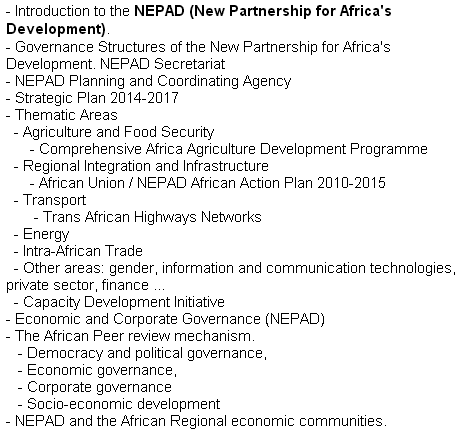 Africa's Development (NEPAD)