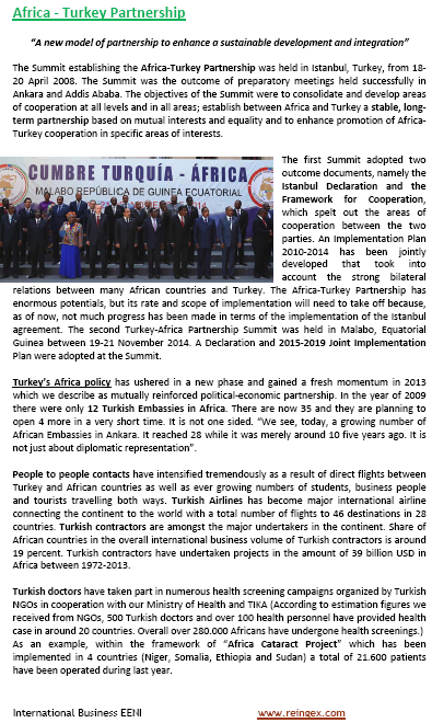 Africa-Turkey Partnership Cooperation Framework