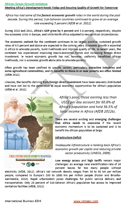 Online Bachelor: African Green Growth Initiative