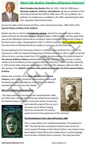 Albert Adu Boahen Kwadwo Historien ghanéen