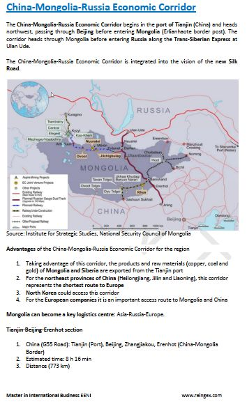 China-Mongolia-Russia Economic Corridor Course