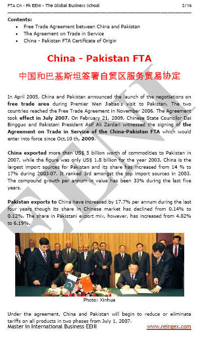 China-Pakistan Free Trade Agreement
