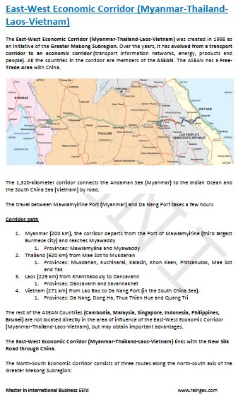 East-West Economic Corridor (Myanmar-Thailand-Laos-Vietnam)