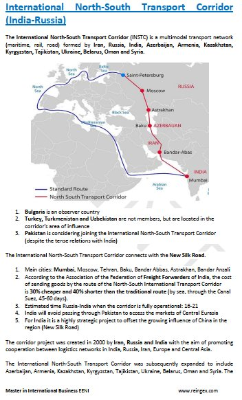 International North-South Transport Corridor, Master