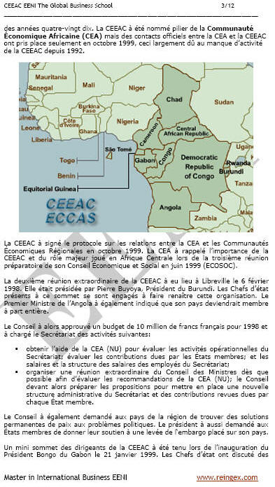 Economic Community Central African ECCAS
