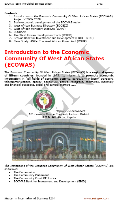 Economic Community of West African States (ECOWAS/CEDEAO)