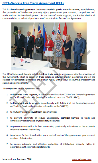 EFTA-Georgia Free Trade Agreement (FTA)