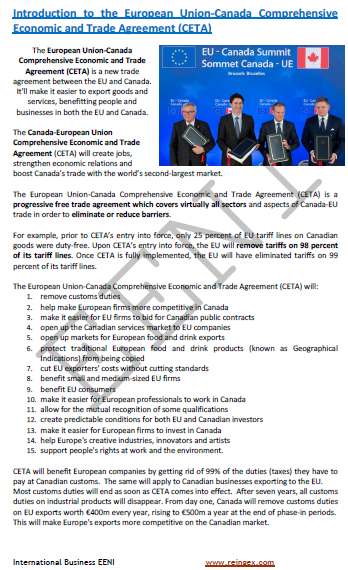 European Union-Canada Economic Agreement