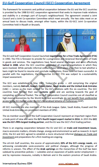 European Union-Gulf Cooperation Council Agreement