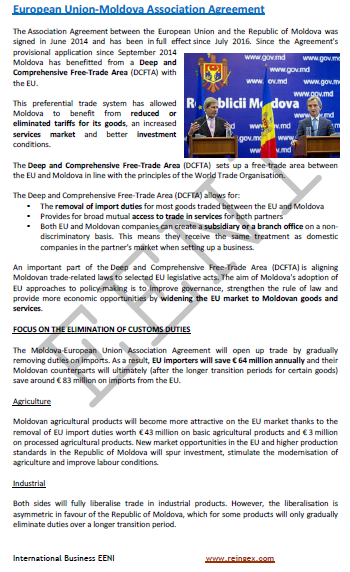 European Union-Moldova Association Agreement