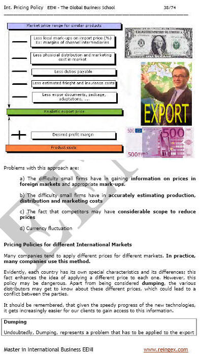 Export Prices (Master, Course)