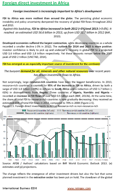 Foreign Direct Investment (FDI) in Africa