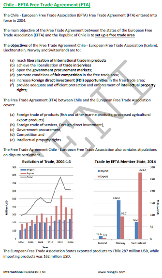 Chile-EFTA Free Trade Agreement (Course)