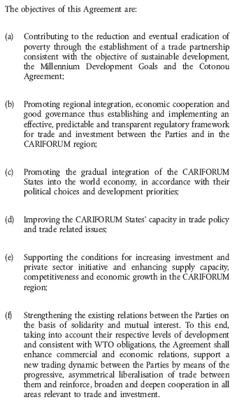 European Union-CARICOM Free Trade Agreement (Course)
