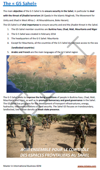 G5 Sahel- Fight against jihadist terrorism