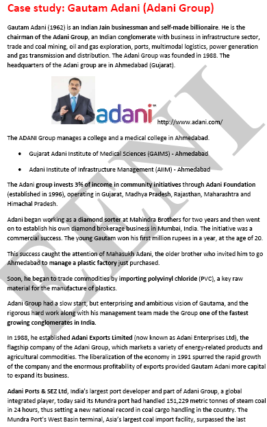 Gautam Adani Jain Indian Businessman (Course Master)