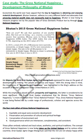 Gross National Happiness (Bhutan)