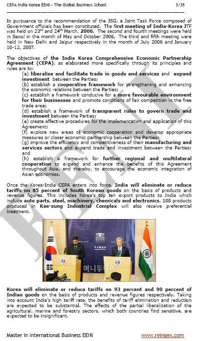 India-South Korea Free Trade Agreement (Course Master)