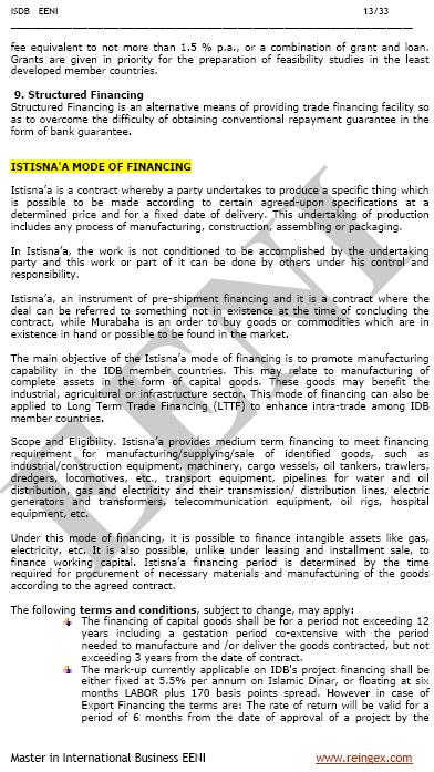 Islamic Development Bank E Course Sharia Law