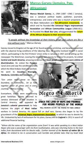 a description of marcus garvey born in jamaica Originally from jamaica, marcus garvey became a loyal leader of the black nationalism and pan  social activist marcus mosiah garvey, jr was born on august 17 .