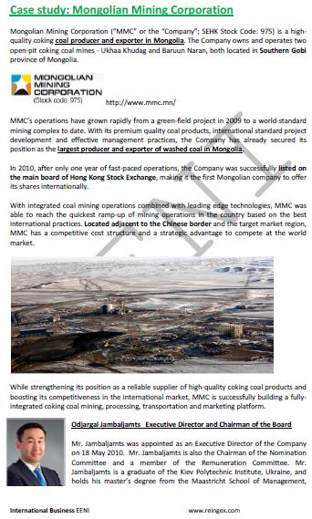 Mongolia Minería