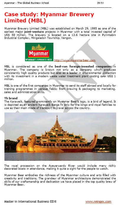 Myanmar Brewery (Course)