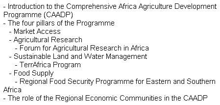 NEPAD Agriculture