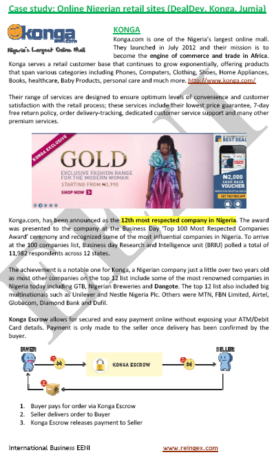 Nigèria Comerç electrònic