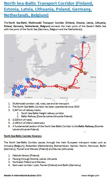North Sea-Baltic Transport Corridor (Finland, Estonia, Latvia, Lithuania, Poland, Germany, Netherlands, Belgium)