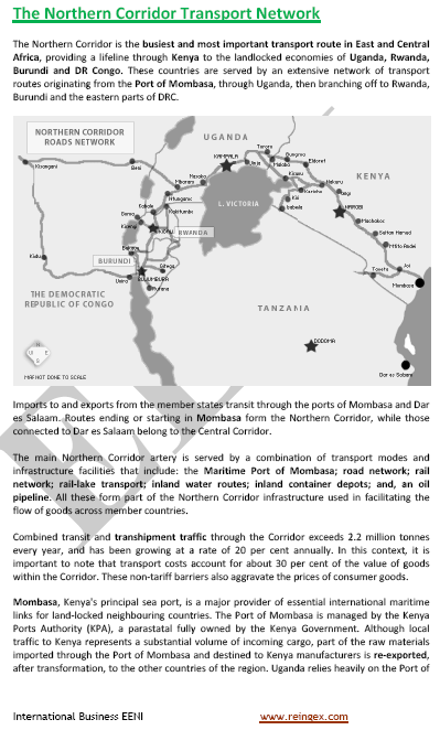 African Northern Transport Corridor (Transport Course)