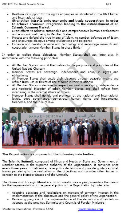 e-Master: Organisation of Islamic Cooperation