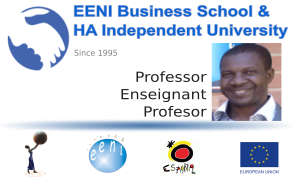 Ousséni SO, Burkina Faso (Professor, EENI Global Business School)