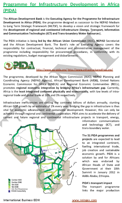 Programme for Infrastructure Development in Africa (PIDA) Master
