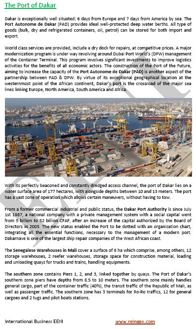 Port of Dakar (Senegal, Logistics, Master)
