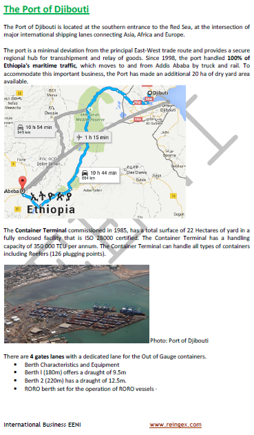 Logistics Course: Port of Djibouti
