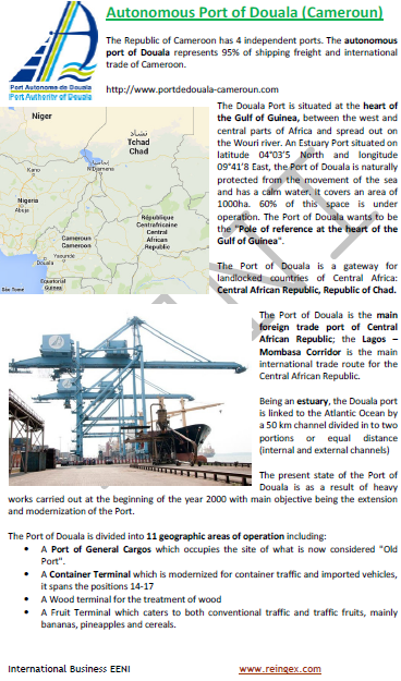 Logistics Course: Port of Douala (Cameroon)