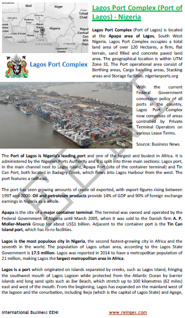 Logistics Course: Port of Lagos Nigeria