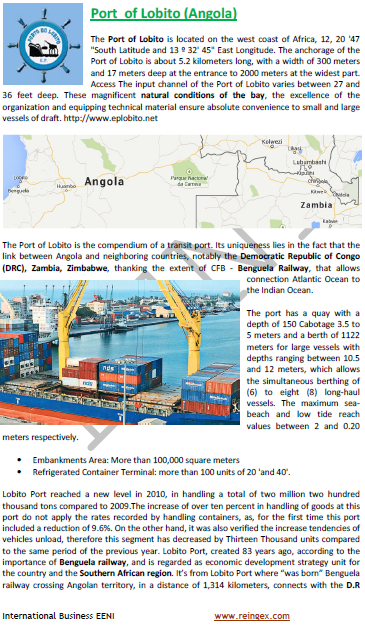 Logistics Course: Port of Lobito (Angola)