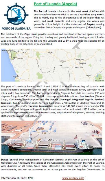 e-Course: Port of Luanda (Angola)
