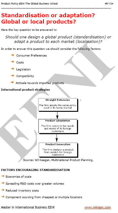 Export Product Policy (Course Master)