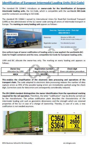 International Transportation (Courses, Master)