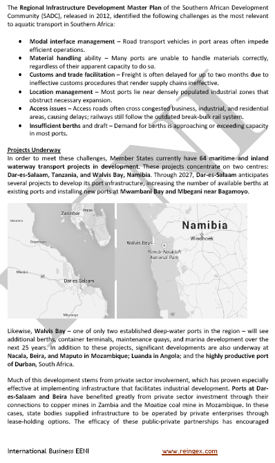Transport in the Southern African Development Community Region